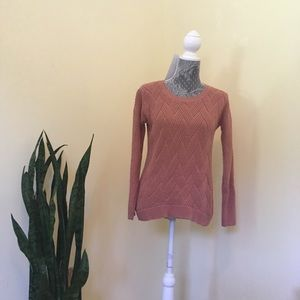 Rose colored sweater in great shape!